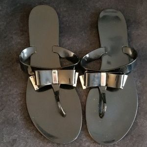 Size 11 Black & Gold Michael Kors Sandals